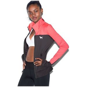 Neon Red Grey Colorblock Ultimate Track Jacket